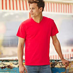 T-Shirt - FRUIT of the LOOM - Valueweight V-Neck T