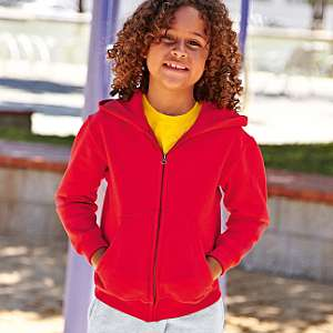 Jacke - FRUIT of the LOOM - Kids Hooded Sweat Jacket